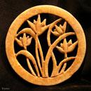 Taoistisches-Symbol-Blumen