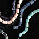 Stränge-Amethyst-Iolit-rosa-Andenopal-Bergkristall-Aquamarin