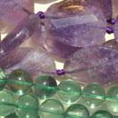 Stränge-Fluorit-Amethyst-Detail